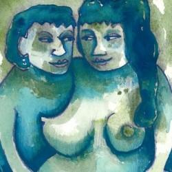 """Blue Gaze"" from Pregnancy Series"
