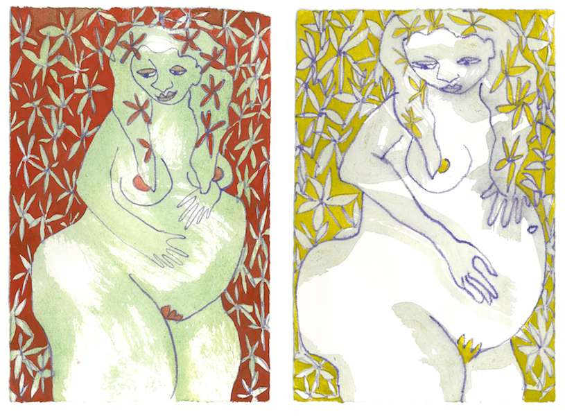 """""""Flowers"""" Red and Yellow from Pregnancy Series"""