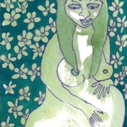 """Green Flowers"" from Pregnancy Series"
