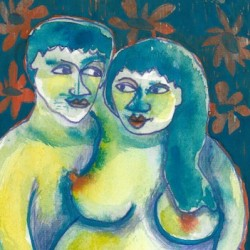 """""""Painted Pair"""" from Pregnancy Series"""