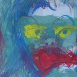 """Mustache Mask"" detail"